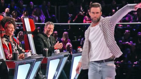 Adam Levine Loses It & Walks Off Stage During 'Voice' Auditions | Country Music Videos