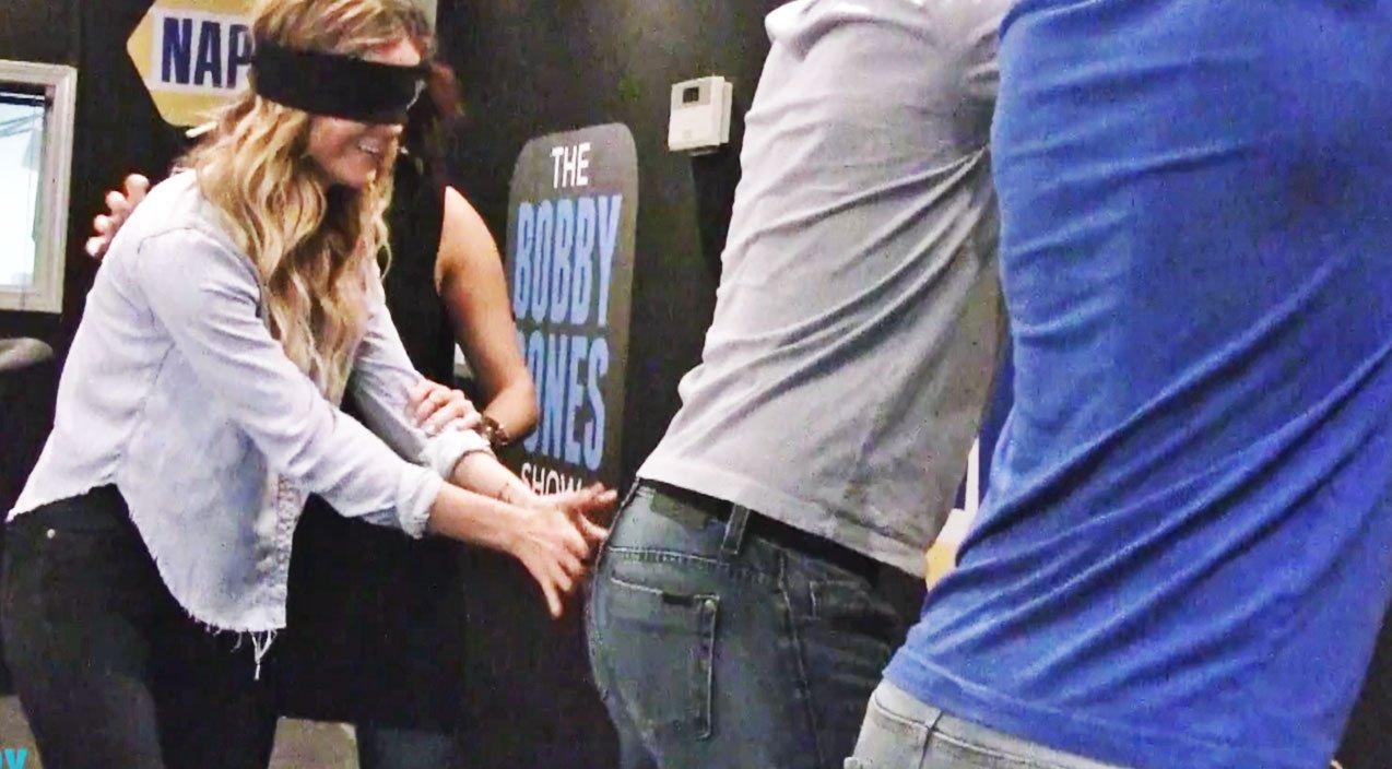 Blindfolded Woman Gets To Spank Luke Bryan