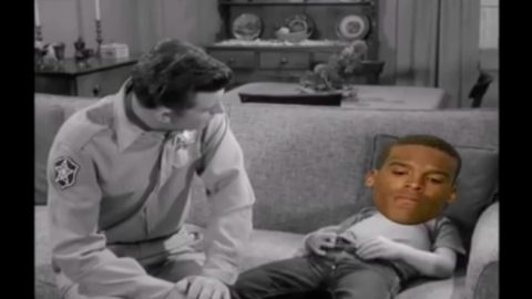 Hilarious Video Shows Andy Griffith Giving Cam Newton A Lesson On Losing | Country Music Videos