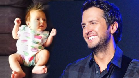 Crying Baby's Reaction To Luke Bryan's Voice Is Priceless | Country Music Videos