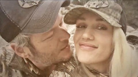 Blake Shelton Can't Stop Kissing Gwen Stefani In Adorable Video | Country Music Videos
