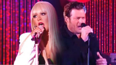 Blake Shelton and Christina Aguilera – Just A Fool – LIVE | Country Music Videos