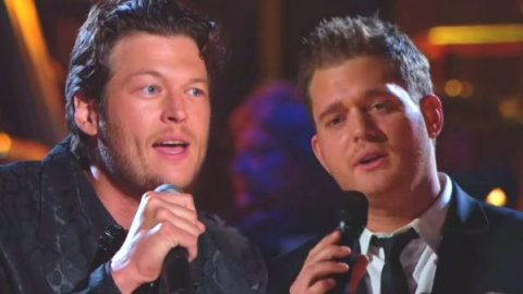 Blake Shelton and Michael Buble – Home (Live) (VIDEO) | Country Music Videos