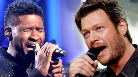 Blake Shelton and Usher Sing 'With A Little Help From My Friends' at United Way Gala (WATCH) | Country Music Videos