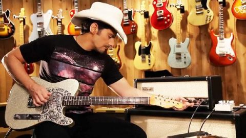 Brad Paisley Visits Guitar Center And Spills All | Country Music Videos