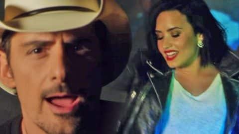 Brad Paisley & Demi Lovato Debut Flirty New Music Video | Country Music Videos