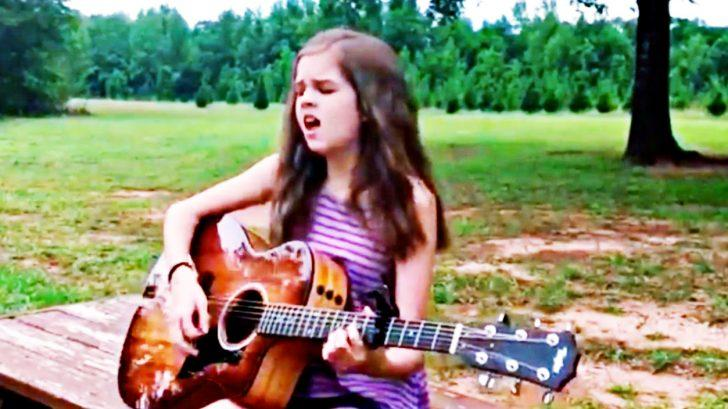 Little Girl's Powerful Voice Rings True With Acoustic 'Desperado' | Country Music Videos