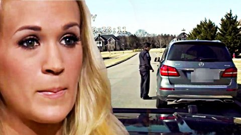 Carrie Underwood's Reaction Captured By Police Dash Cam Footage | Country Music Videos