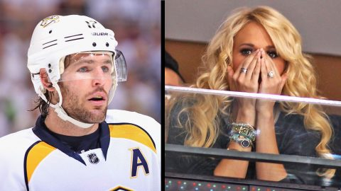 Carrie Underwood's Husband, Mike Fisher Leaves Game With Potentially Serious Injury | Country Music Videos