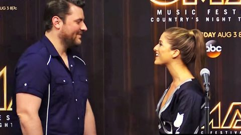 Chris Young Stops Cassadee Pope Mid-Interview To Give Her SHOCKING News | Country Music Videos