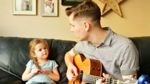 "4-Year Old Joins Dad For Tear-Jerking Cover Of ""You've Got A Friend In Me"" 