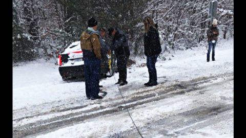 Dale Jr. Victim Of Crash On Icy Roads | Country Music Videos