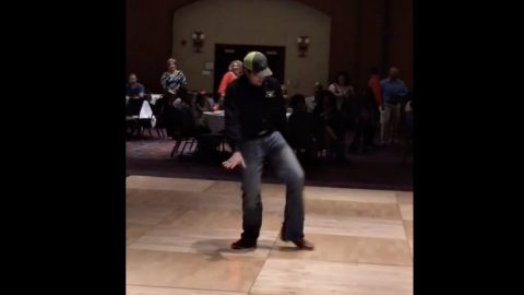 Dancing Deejay Clears Dance Floor With Epic 'Footloose' Performance | Country Music Videos