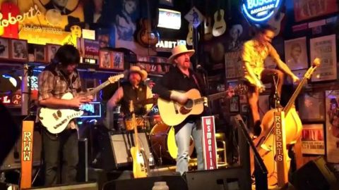 Drummer Falls Through Window During Epic Song Finish | Country Music Videos
