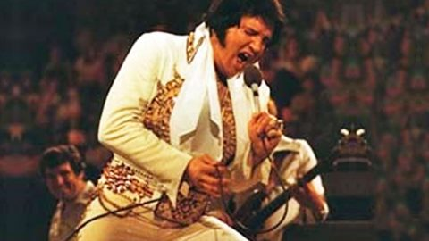 Elvis Presley Sings 'Unchained Melody' During Final Recorded Concert | Country Music Videos