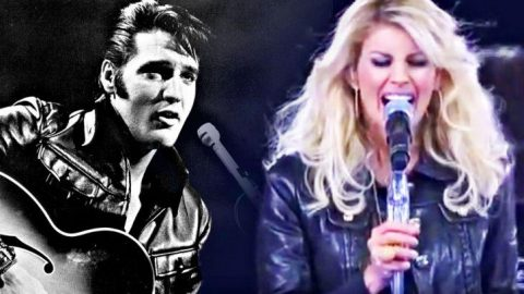 Leather-Clad Faith Hill Delivers Growling Tribute To Elvis | Country Music Videos