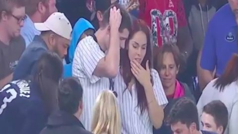 Fan Drops Ring In Stands While Proposing To Girlfriend On Screen During Baseball Game | Country Music Videos