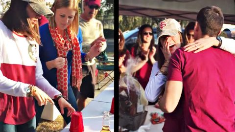 After Leaving Her At The Bar, Man Scores Epic Flip-Cup Proposal   Country Music Videos