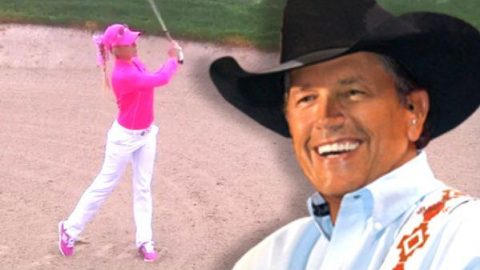 05567eeeec181 George Strait Tough Enough to Wear Pink Golf Tournament