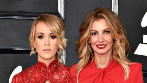 Faith Hill And Carrie Underwood Arrive At Grammys In Matching Dresses | Country Music Videos