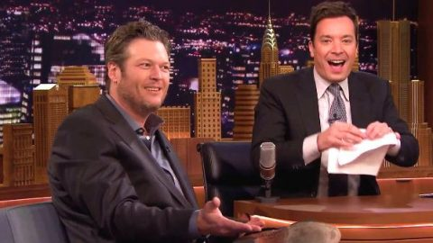 Jimmy Fallon Tries To Impress Blake Shelton With His Singing (WATCH)   Country Music Videos