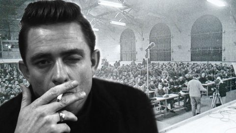Johnny Cash Performs 'San Quentin' Live From Prison In Rare Footage | Country Music Videos