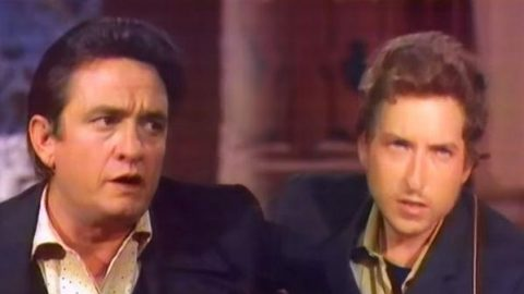 Johnny Cash and Bob Dylan – Girl From The North Country   Country Music Videos