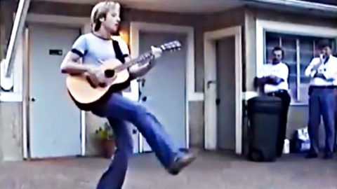 Rare Video Surfaces: Young Keith Urban Dazzles Radio Execs With Wicked Guitar Skills | Country Music Videos