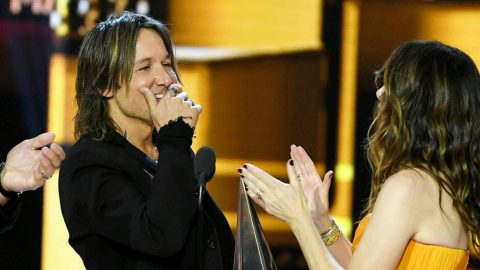 Keith Urban Gets Huge Surprise While Accepting American Music Award | Country Music Videos