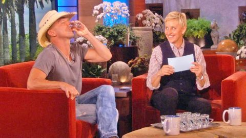 Ellen DeGeneres Challenges Kenny Chesney To A Drinking Contest He Can't Win | Country Music Videos