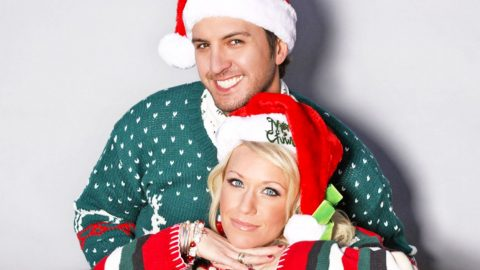 Luke Bryan & Wife Win At Making Christmas Cards, And Here's Why | Country Music Videos