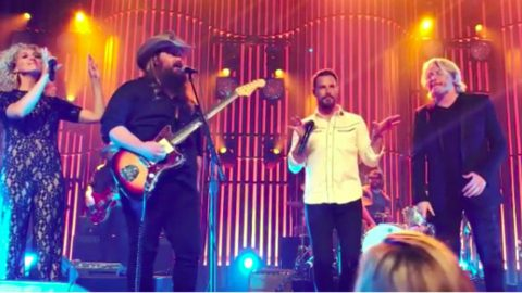 Chris Stapleton's Surprise Performance With Little Big Town Was Sweet As Strawberry Wine | Country Music Videos