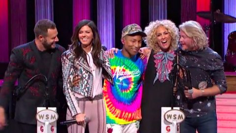 [WATCH] Pharrell Makes Surprise Appearance At Opry With Little Big Town | Country Music Videos