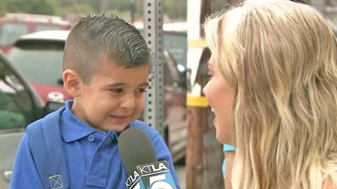 Little Boy Has Priceless Reaction When Asked About First Day Of School | Country Music Videos