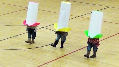 Little Cowboys, Huge Hats! 3 Students Give Hysterical Dance To 'Elvira' | Country Music Videos
