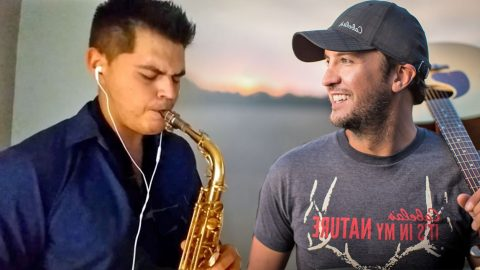 A Saxophone Takes On Luke Bryan's 'Strip It Down' And It's INCREDIBLE | Country Music Videos