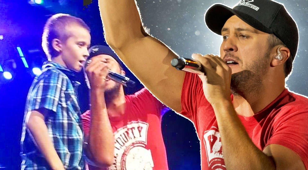 Luke Bryan Brings Little Boy Onstage To Sing Crash My -8877