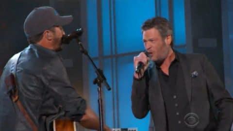 Blake Shelton Crashes Luke Bryan's Opening ACM Awards Number | Country Music Videos