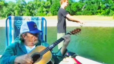 Ben Haggard Fishing While Merle Haggard Sings To Him (Rare!) (WATCH) | Country Music Videos