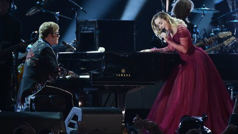 Miley Cyrus Joins Elton John For Special Performance Of 'Tiny Dancer' | Country Music Videos