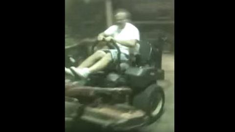 Lawn Mower Takes Man For The Ride Of His Life | Country Music Videos