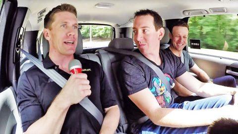 NASCAR Takes On 'Carpool Karaoke' With Hysterical Parody | Country Music Videos