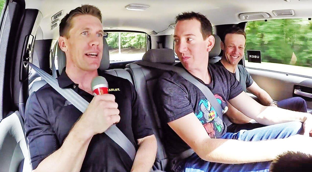 """NASCAR Takes On """"Carpool Karaoke"""" With Their Own Parody"""