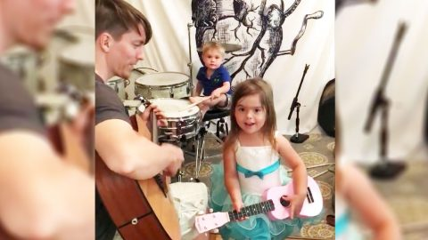 2 Kids & Their Father Deliver Heart-Melting Cover Of Classic Country Song | Country Music Videos