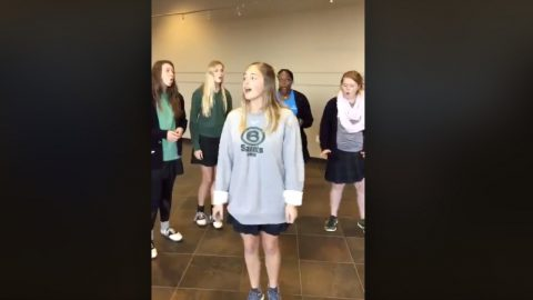 Unsuspecting Teens Become Internet Stars After Being Taped Singing In School Hallway | Country Music Videos