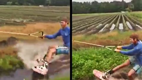This Redneck Wakeboarding Stunt Will Blow Your Mind! | Country Music Videos