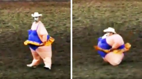 Rodeo Clown Leaves Crowd Roaring After Hysterical Dance | Country Music Videos