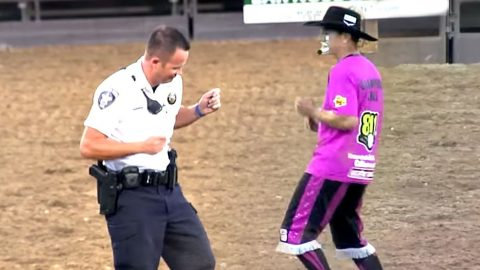 Rodeo Clown Challenges Police Officer To Dance-Off   Country Music Videos