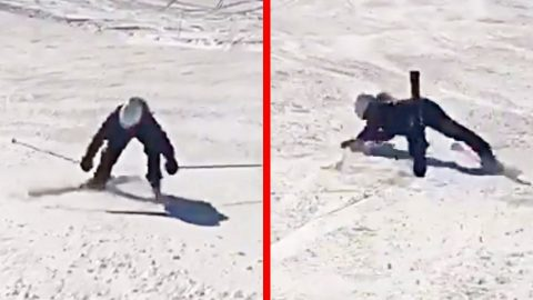Shania Twain Faceplants In Swiss Alps Skiing Mishap | Country Music Videos