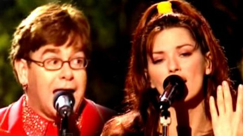 Shania Twain and Elton John – Something About The Way You Look Tonight (Live) | Country Music Videos